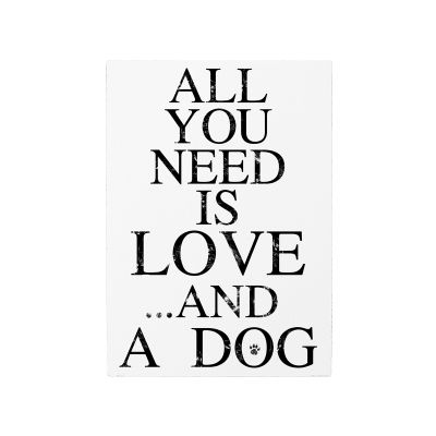 """Wandtafel """"All you need love and .."""""""