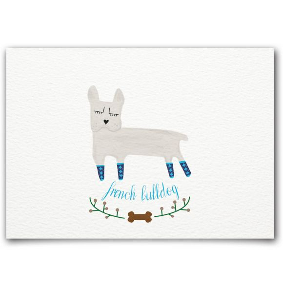 French Bulldog Postkarte