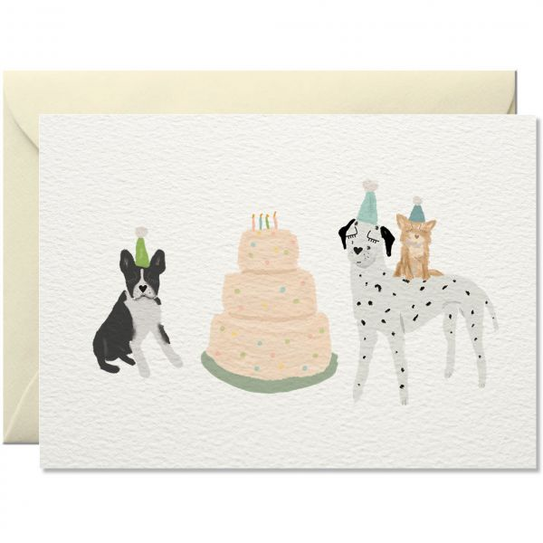 Hundekuchen Grußkarte